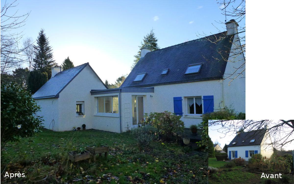 Extension De Maison La For T Fouesnant Quimper