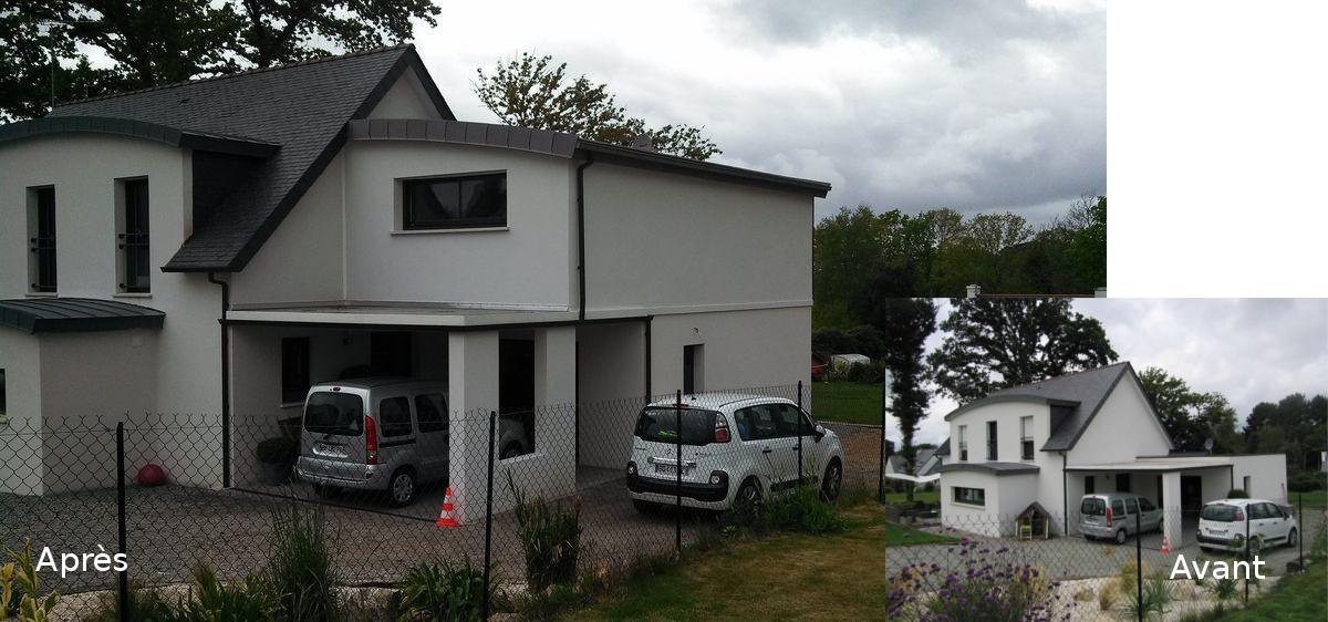 Extension de maison saint evarzec quimper fouesnant finist re sud - Devis extension maison ...